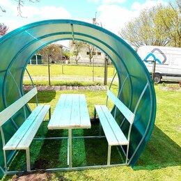 Комплекты садовой мебели - Беседка полукруглая с поликарбонатом, 0