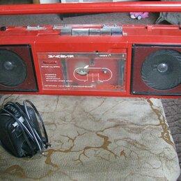 Музыкальные центры,  магнитофоны, магнитолы - Кассетный магнитофон (элегия 302) красного цвета, 0