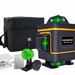 Измерительные инструменты и приборы - Лазерный нивелир 360 зеленый луч 16 линий Pracmanu, 0