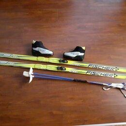 Беговые лыжи - Лыжи, палки, ботинки (35 размер), 0