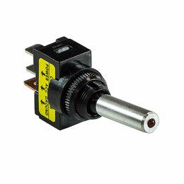 Электроустановочные изделия - Тумблер двухпозиционный ON-OFF 12В/16А 3P  с подсветкой, 0