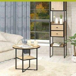 Стеллажи и этажерки - Стеллаж для гостиной + журнальный столик Берген, 0
