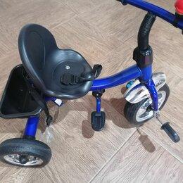 Трехколесные велосипеды - Трехколесный велосипед с ручкой и подножкой, 0