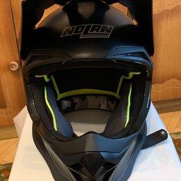 Мотоэкипировка - Шлем кроссовый Nolan N53 чёрный матовый (S), 0