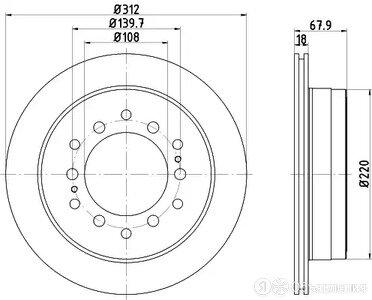 Диск тормозной с покрытием pro зад Textar 92231003 по цене 4827₽ - Тормозная система , фото 0