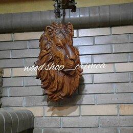 Статуэтки и фигурки - Лев из дерева натуральный дуб 3d резьба чпу, 0