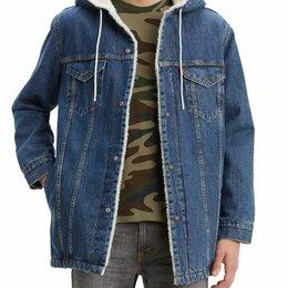 Куртки - Levi's  Джинсовая куртка с мехом шерпа мужская S-xxl, 0