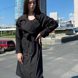 Плащи - Женский тренч (черный), 0