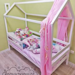 Кроватки - Детская кровать домик новая с бортиками, 0