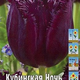 Луковичные растения - Тюльпан бахромчатый Кубинская Ночь 10  шт., 0