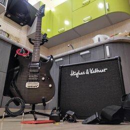 Электрогитары и бас-гитары - Комбоусилитель Hughes & Kettner 30 DFX +  Электрогитара Ibanez Gio GRX70QA, 0