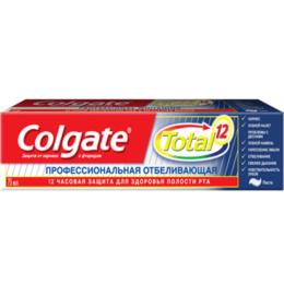 Зубная паста - Паста зубная Colgate Total12 75мл Профессиональная Отбеливающая, 0