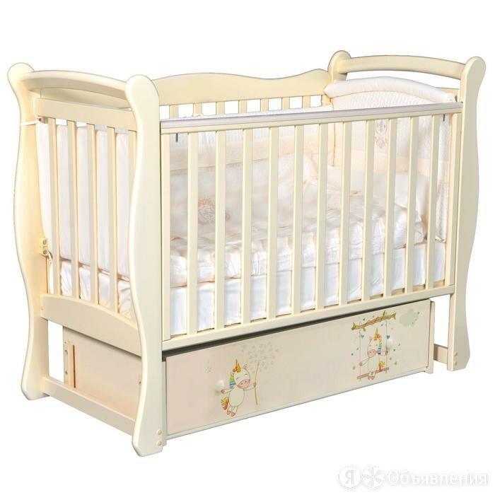 Кровать Camellia, коллекция «Радужные единороги», цвет слоновая кость по цене 16296₽ - Кровати, фото 0