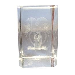 Дизайн, изготовление и реставрация товаров - Сувенир Куб с 3D рисунком внутри Влюблённые Glass, 0