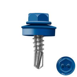 Шурупы и саморезы - Саморез кровельный DAXMER по металлу RAL5005 Синий Сигнал 5,5*19мм, 0