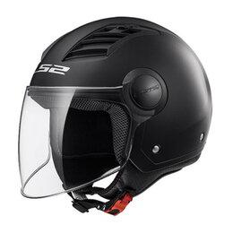 Мотоэкипировка - Шлем OF562 AIRFLOW Matt Black LONG, 0