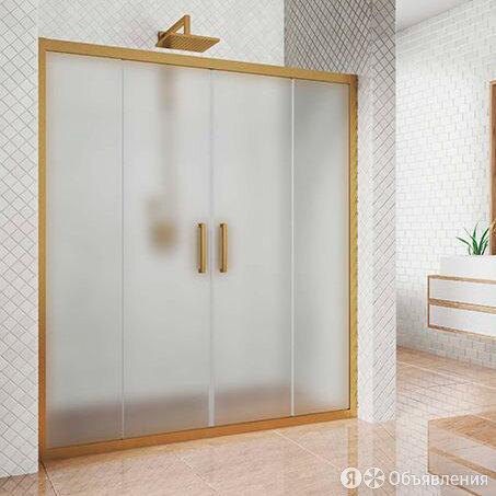 Душевая дверь в нишу Kubele DE019D4-MAT-BR 150 см, профиль бронза по цене 44500₽ - Полки, шкафчики, этажерки, фото 0