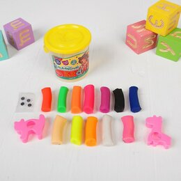 Лепка - Тесто для лепки Enchantimals, 2 формочки,глаза,12цветов ,90 г, цвета МИКС, 0