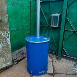 Бочки - 200 литровая бочка металлическая для сжигания мусора , 0