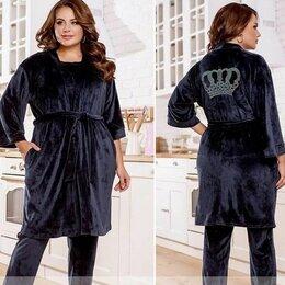 Домашняя одежда - Женский домашний велюровый костюм р-ры 48-64, 0