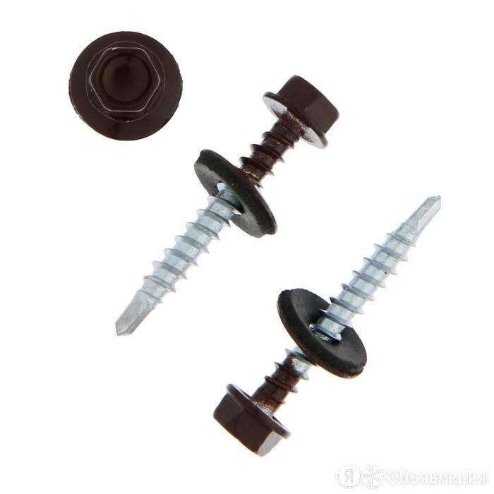 Саморезы кровельные TUNDRA с буром 4.8x35, темно-коричневый 1 кг по цене 846₽ - Шурупы и саморезы, фото 0