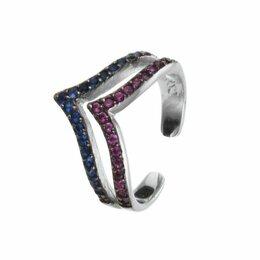 Кольца и перстни - Element47 кольцо серебро вес 1,47 вставка фианит арт. 743944, 0