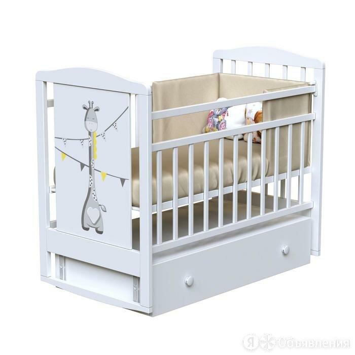 Кровать детская DREAM - DINO маятник с ящиком (Bianco) по цене 12750₽ - Кроватки, фото 0