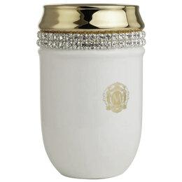 Мыльницы, стаканы и дозаторы - Migliore Dubai Стакан настольный, керамика, белый/декор платина, swarovski 28454, 0