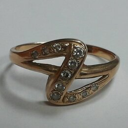 Кольца и перстни - Золото 585 , кольцо с фианитами 1,5 г. ( 16 размер) , 0