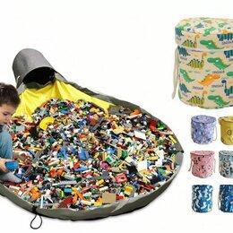 Хранение игрушек - Новая корзина-коврик для игрушек, Lego (белая с динозаврами), 0