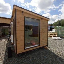 Готовые строения - Каркасная баня с панорамными окнами, 0