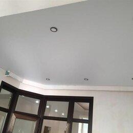Потолки и комплектующие - Натяжной потолок матовый в комнату, 0