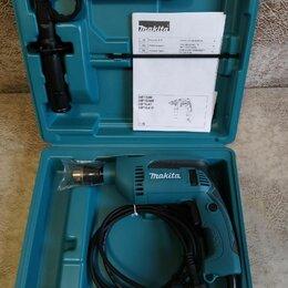 Дрели и строительные миксеры - Дрель ударная Makita HP1640K 680вт, 0