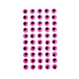 Средства для интимной гигиены - Глазки на клеевой основе, набор 60 шт, размер 1 шт: 1,2 см , цвет фуксия, 0