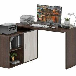 Компьютерные и письменные столы - СКЛ-Прям130 + ТБЛ-2 компьютерный стол, 0