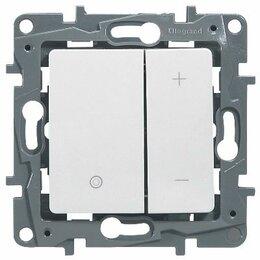 Электроустановочные изделия - Legrand 672218 Светорегулятор нажимной Legrand Etika 400W, белый, 0