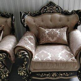 """Кресла - Кресло """"Оскар-2"""" Темный орех, Азалия бежевый, 0"""