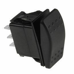 Электроустановочные изделия - Переключатель двухпозиционный (ON)-ON 12В/20А 6Р без фиксации 1 положения, 0