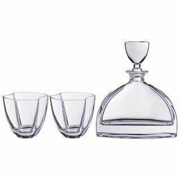 "Бокалы и стаканы - Набор для виски ""Нэмо"". Штоф + 2 стакана 550/350 мл. Н=22/10 см., 0"