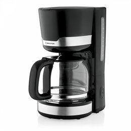 Кофеварки и кофемашины - Кофеварка BRAYER 1120BR, 1кВт, 1,5л, съемный фильтр, поддержание t, черная, 0