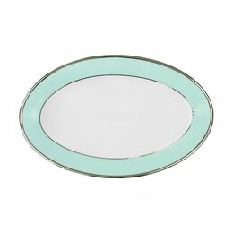 Блюда, салатники и соусники - Овальное блюдо фарфоровое голубое Myth Ethereal Blue, 0