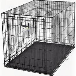 Клетки и домики  - Клетка OVATION 79х49х55H см с торцевой вертикально-откидной дверью черная , 0