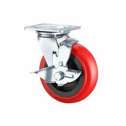 Оборудование для транспортировки - Поворотная колесная опора с тормозом ф 100, 125, 160, 200 мм, 0