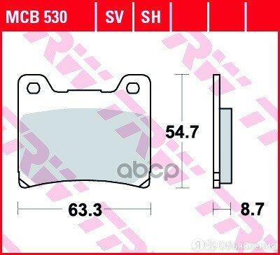 Колодки TRW арт. MCB530SH по цене 2050₽ - Тормозная система , фото 0