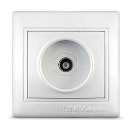 Тумбы - UNIVersal Севиль розетка TV СУ 1 мест. бел. (керам. осн., RG6) новый дизайн С..., 0