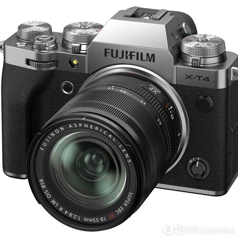 Беззеркальный фотоаппарат Fujifilm X-T4 Kit 18-55mm, серебристый по цене 161990₽ - Фотоаппараты, фото 0