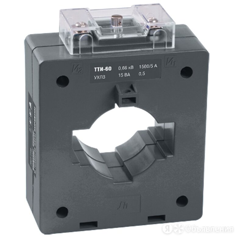 Трансформатор тока IEK ТТИ-60 1000/5 А, 10 ВА, класс 0.5S по цене 1746₽ - Другое, фото 0