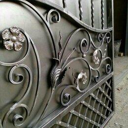 Заборы, ворота и элементы - Ворота художественная ковка серебристая, 0