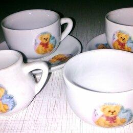 Игрушечная еда и посуда - Мини сервиз чайный кукольный с мишкой. Раритет 70гг., 0