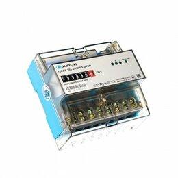 Счётчики электроэнергии - Счетчик ТОПАЗ 301-10(100)1-ШР2М трехфазые, однотарифный ЭМОУ (крепление дин-рейк, 0